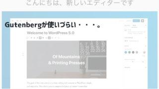 【対策】WordPressを最新5.0にアップデートしたらめちゃ使いづらかった